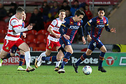 Bradford City midfielder Alex Gilliead runs leads the attack during the EFL Sky Bet League 1 match between Doncaster Rovers and Bradford City at the Keepmoat Stadium, Doncaster, England on 19 March 2018. Picture by Aaron  Lupton.