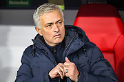 Tottenham Hotspur Manager José Mourinho during the Champions League match between Bayern Munich and Tottenham Hotspur at Allianz Arena, Munich, Germany on 11 December 2019.