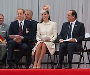 KATE, Will & President Hollande At WW1 Commemoration