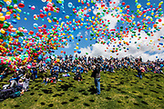 The Autism Awareness ballon Launch held at the Brent Brown Ball Park on the Utah Valley University campus on Saturday April 18, 2016. (Jay Drowns/UVU Marketing)