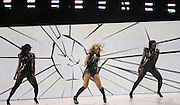 Beyonce performs during the Super Bowl XLVII halftime show at the Mercedes-Benz Superdome on February 3, 2013 in New Orleans.  UPI/David Tulis
