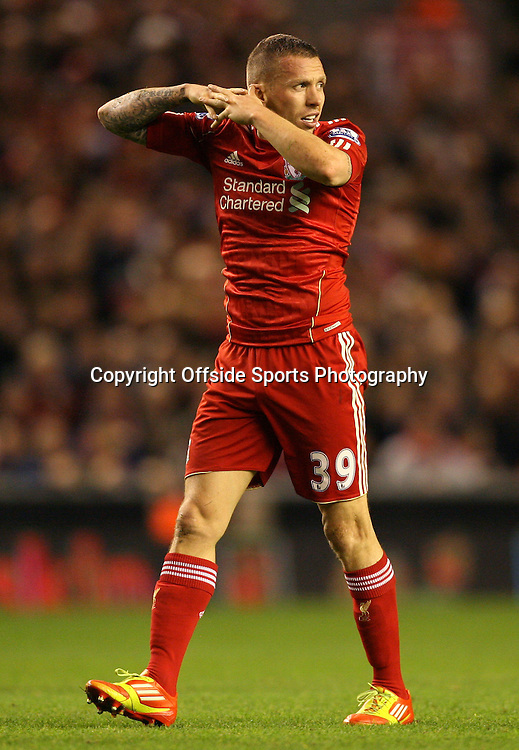 25/01/2012 - Carling Cup Semi-Final (2nd Leg) - Liverpool vs. Manchester City - Craig Bellamy of Liverpool - Photo: Simon Stacpoole / Offside.