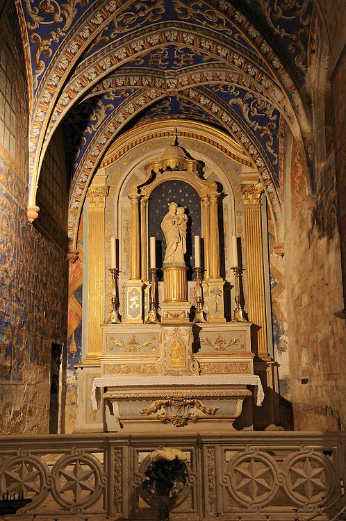 France, Languedoc Roussillon, Gard (30), Uzège, Uzès, cathédrale Saint-Théodorit, chapelle de la Sainte-Vierge