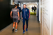 Stoke City Manager Nathan Jones arriving during the EFL Cup match between Leeds United and Stoke City at Elland Road, Leeds, England on 27 August 2019.