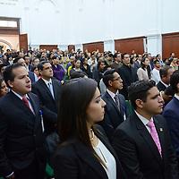 Toluca, México (Septiembre 05, 2016).- Inauguración del Concurso Nacional de Oratoria y Debate Público El Universal Estado de México 2016, en donde participaran jóvenes de 32 estados de la República Mexicana que se realizó en el Aula Magna de Rectoría de la UAEM.  Agencia MVT / José Hernández.