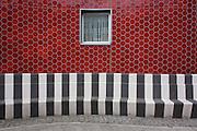 Afforbable housing wall exterior in Brandon Street, London borough of Southwark.