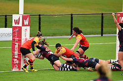 Naomi Keddie of Bristol Bears Women scores a try - Mandatory by-line: Paul Knight/JMP - 26/10/2019 - RUGBY - Shaftesbury Park - Bristol, England - Bristol Bears Women v Richmond Women - Tyrrells Premier 15s