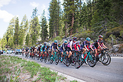 Alexis Ryan (USA) of CANYON//SRAM Racing leads the chase on Stage 2 of the Amgen Tour of California - a 108 km road race, starting and finishing in South Lake Tahoe on May 18, 2018, in California, United States. (Photo by Balint Hamvas/Velofocus.com)