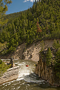 Scenic white water rafting the Salmon River near Stanley, Idaho.