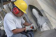 JUL 2004 MILAN : VENERANDA FABBRICA DEL DUOMO DI MILANO; LAVORI DI RIPULITURA, CONSOLIDAMENTO E RESTAURO DELLA FACCIATA. © CARLO CERCHIOLI..VENERANDA FABBRICA DEL DUOMO DI MILANO ( VENERABLE MILAN DUOMO FACTORY); CLEANING, RESTORETION AND REINFORCEMENT WORKS OF OF THE DUOMO FAÇADE.