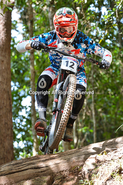 22.04.2016. Cairns,Australia. UCI Mountain Bike World Cup. Downhill qualifying. Loris Vergier from France riding for SPECIALIZED GRAVITY POWERED BY SRAM.