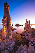 Dawn light and tufa towers at Mono Lake, Mono Basin National Scenic Area, California USA