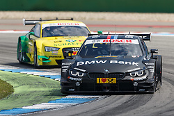 04.05.2014, Hockenheimring, Hockenheim, GER, DTM, 1. Lauf, Hockenheimring, Rennen, im Bild Bruno Spengler (BMW M4 DTM) vor Mike Rockenfeller (Audi RS5 DTM) // during the 1th run of DTM at the Hockenheimring in Hockenheim, Germany on 2014/05/06. EXPA Pictures © 2014, PhotoCredit: EXPA/ Eibner-Pressefoto/ Neis<br /> <br /> *****ATTENTION - OUT of GER*****
