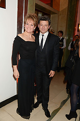 ANDY SERKIS and LORRAINE ASHBOURNE at the Harper???s Bazaar Women of the Year 2013 in association with Estée Lauder, Audemars Piguet and Selfridges & Co. held at Claridge's, Brook Street, London on 5th November 2013.
