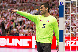 09.04.2016, Ergo Arena, Gdansk, POL, IHF Herren, Olympia Qualifikation, Polen vs Chile, im Bild Felipe Garcia // during the IHF men's Olympic Games handball qualifier between Poland and Chile at the Ergo Arena in Gdansk, Poland on 2016/04/09. EXPA Pictures © 2016, PhotoCredit: EXPA/ Newspix/ Tomasz Zasinski<br /> <br /> *****ATTENTION - for AUT, SLO, CRO, SRB, BIH, MAZ, TUR, SUI, SWE only*****
