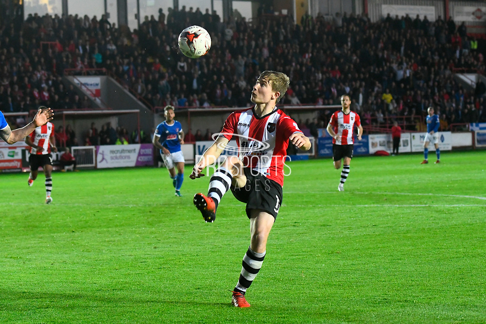 David Wheeler (11) of Exeter City during the EFL Sky Bet League 2 play off second leg match between Exeter City and Carlisle United at St James' Park, Exeter, England on 18 May 2017. Photo by Graham Hunt.