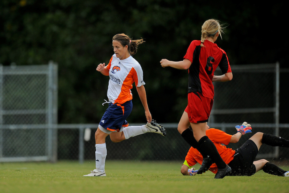 Sept. 15, 2012; Morrow, GA, USA; Clayton State women's soccer player Natalia Valentine against the Flagler at CSU. Photo by Kevin Liles/kdlphoto.com