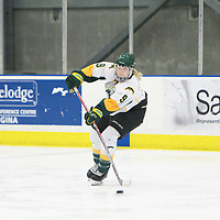 4th year forward Emma Waldenberger (9) of the Regina Cougars in action during the Women's Hockey home game on November 18 at Co-operators arena. Credit: Arthur Ward/Arthur Images