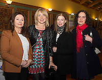 Lorraine Hogan and Bridie Foley, Helen Culahan and Helen Tynan Clarinbridge at the Cookery demonstration with Chef Neven Maguire and Artisan Food Fair in aid of Seamount College  at the Lady Gregory Hotel Gort, Co. Galway.<br /> Photo:Andrew Downes, xposure.
