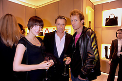 Left to right, MARK & MELODY CROWDY and ROBIE UNIACKE at a party at Roger Vivier, Sloane Street, London on 2nd December 2008.
