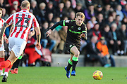 Forest Green Rovers George Williams(11) runs forward during the EFL Sky Bet League 2 match between Cheltenham Town and Forest Green Rovers at Jonny Rocks Stadium, Cheltenham, England on 29 December 2018.