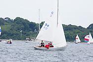 _V0A8091. ©2014 Chip Riegel / www.chipriegel.com. The 2014 Bullseye Class National Regatta, Fishers Island, NY, USA, 07/19/2014. The Bullseye is a Nathaniel Herreshoff designed 15' Marconi rig sailing boat.