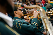 Band members perform during the 92nd and final Commencement Exercises on Saturday, April 28, 2018, in the Julius and Mary Jenkins Center at Concordia College Alabama in Selma, Ala. LCMS Communications/Erik M. Lunsford