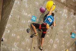 Dmitrii Fakiryanov (RUS) during final day of competition of IFSC Climbing World Cup Kranj 2016, on November 27, 2016 in Arena Zlato Polje, Kranj, Slovenia. (Photo By Grega Valancic / Sportida.com)