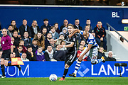 Fulham (8) Stefan Johansen, QPR (20) Alex Baptiste  during the EFL Sky Bet Championship match between Queens Park Rangers and Fulham at the Loftus Road Stadium, London, England on 29 September 2017. Photo by Sebastian Frej.