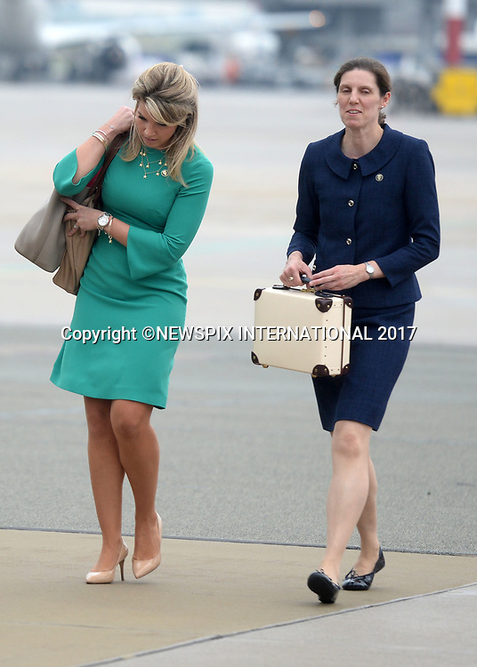 &ldquo;UK 28 Days Out&rdquo;<br /> 17.07.2017; Warsaw, Poland: Maria Teresa Turrion Borrallo - Royal Nanny<br /> PRINCE GEORGE, PRINCESS CHARLOTTE, KATE AND WILLIAM<br /> arrive at Warsaw Military Airport, Warsaw at the start of their tour to Poland.<br /> The royals will tour both Poland and Germany over the next five days.<br /> Mandatory Photo Credit: &copy;Francis Dias/NEWSPIX INTERNATIONAL<br /> <br /> IMMEDIATE CONFIRMATION OF USAGE REQUIRED:<br /> Newspix International, 31 Chinnery Hill, Bishop's Stortford, ENGLAND CM23 3PS<br /> Tel:+441279 324672  ; Fax: +441279656877<br /> Mobile:  07775681153<br /> e-mail: info@newspixinternational.co.uk<br /> Usage Implies Acceptance of OUr Terms &amp; Conditions<br /> Please refer to usage terms. All Fees Payable To Newspix International