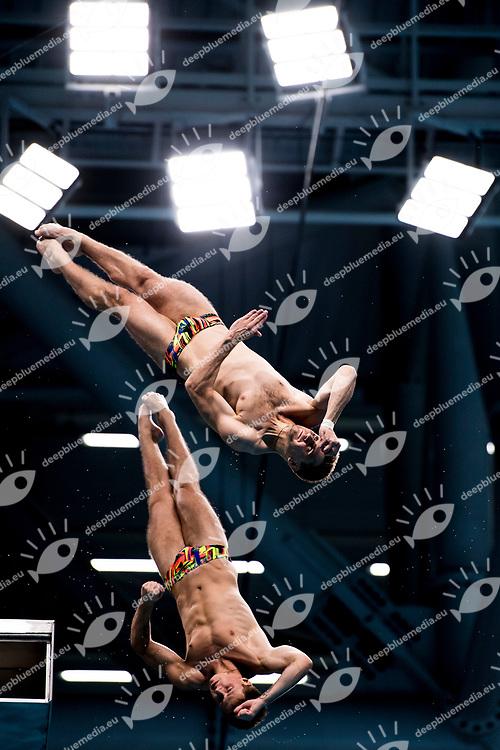 DOLGOV Maksym, GORSHKOVOZOV Oleksand UKR<br /> Men's 10m Synchro Platform Final<br /> Diving <br /> Day 04 17/07/2017 <br /> XVII FINA World Championships Aquatics<br /> Duna Arena Budapest Hungary July 15th - 30th 2017 <br /> Photo @A.Masini/Deepbluemedia/Insidefoto