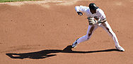 CHICAGO - APRIL 24:  Tim Anderson #7 of the Chicago White Sox fields against the Seattle Mariners on April 24, 2018 at Guaranteed Rate Field in Chicago, Illinois.  (Photo by Ron Vesely)   Subject:   Tim Anderson