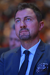 October 2, 2018 - Krakow, Poland - Jerzy Dudek, a Polish former footballer goalkeeper, during the 25th Anniversary Gala of the Siemacha Association in Krakow's ICE Arena...Siemacha Association is a Polish non-profit organization founded in November 2003 in Kraków in order to establish an institutional framework for specialised day-care facilities..The educational model is based on peer-to-peer relationships in the process of socialisation and building trust with a set day schedule, numerous workshops and studios, planned subject-oriented classes and a team of professional educators. .Tuesday, October 2, 2018, in Krakow, Poland. (Credit Image: © Artur Widak/NurPhoto/ZUMA Press)