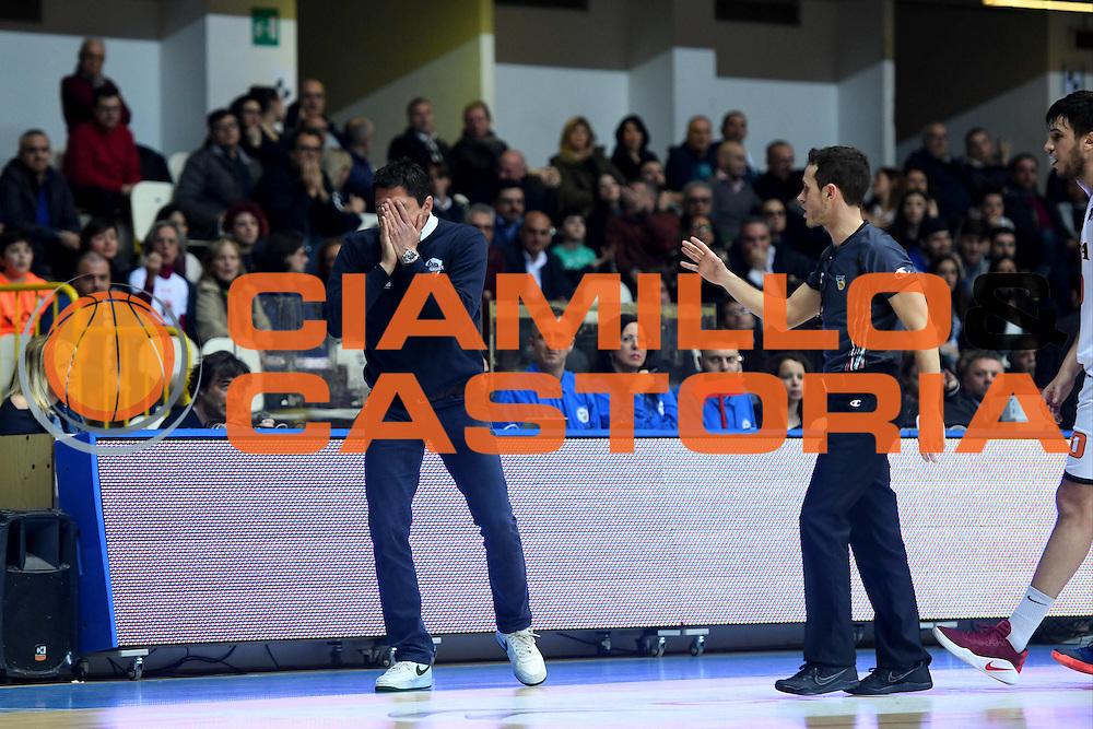 Davide Bonora<br /> Viola Reggio Calabria - Roma Gas &amp; Power Roma<br /> Campionato Basket LNP 2016/2017<br /> Reggio Calabria 26/02/2017<br /> Foto Ciamillo-Castoria