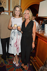 Left to right, TV Presenters CHARLOTTE HAWKINS and JACQUIE BELTRAO at a dinner to celebrate the 125th anniversary of the Dog's Trust held at Annabel's, Berkeley Square, London on 1st November 2016.