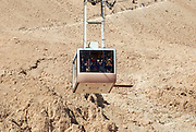 Israel, Masada The cablecar ascending to the mountain top