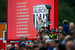 West Bromwich Albion fans watch from the away stand - Mandatory by-line: Matt McNulty/JMP - 22/08/2017 - FOOTBALL - Wham Stadium - Accrington, England - Accrington Stanley v West Bromwich Albion - Carabao Cup - Second Round