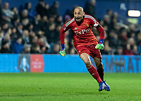 Football - 2018 / 2019 Emirates FA Cup - Fifth Round: Queens Park Rangers vs. Watford<br /> <br /> Heurelho Gomes (Watford FC)  turns away in celebration after his team mate Etienne Capoue (Watford FC) scores in first half injury time at Loftus Road<br /> <br /> COLORSPORT/DANIEL BEARHAM