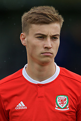 NEWPORT, WALES - Monday, October 14, 2019: Wales' Ryan Astley lines-up before an Under-19's International Friendly match between Wales and Austria at Dragon Park. (Pic by David Rawcliffe/Propaganda)