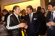 Andrea Della Valle and Nick Ashley, Opening of a Tod's boutique, Old Bond St. 19 Nov 2003. © Copyright Photograph by Dafydd Jones 66 Stockwell Park Rd. London SW9 0DA Tel 020 7733 0108 www.dafjones.com