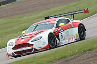 #5 Liam Griffin/Rory Butcher - Oman Racing Team, Aston Martin Vantage GT3 during British GT Championship race at Rockingham, Corby, Northamptonshire, United Kingdom. May 05 2014. World Copyright Peter Taylor/PSP. Copy of publication required for printed pictures.  Every used picture is fee-liable. http://archive.petertaylor-photographic.co.uk