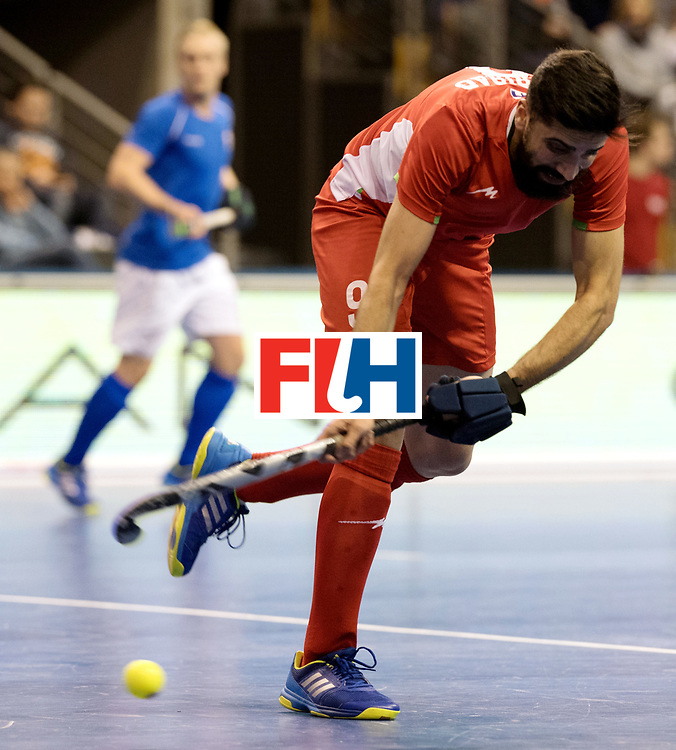 BERLIN - Indoor Hockey World Cup<br /> Quarterfinal 1: Iran - Czech Republic<br /> foto: TAHERIRAD Navid.<br /> WORLDSPORTPICS COPYRIGHT FRANK UIJLENBROEK