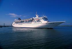 Cruise ship setting sail