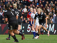 Kelly Brazier moves the ball with the power of her mind, England Women v New Zealand Women in an Old Mutual Wealth Series, Autumn International match at Twickenham Stoop, Twickenham, England, on 19th November 2016. Full Time score 20-25