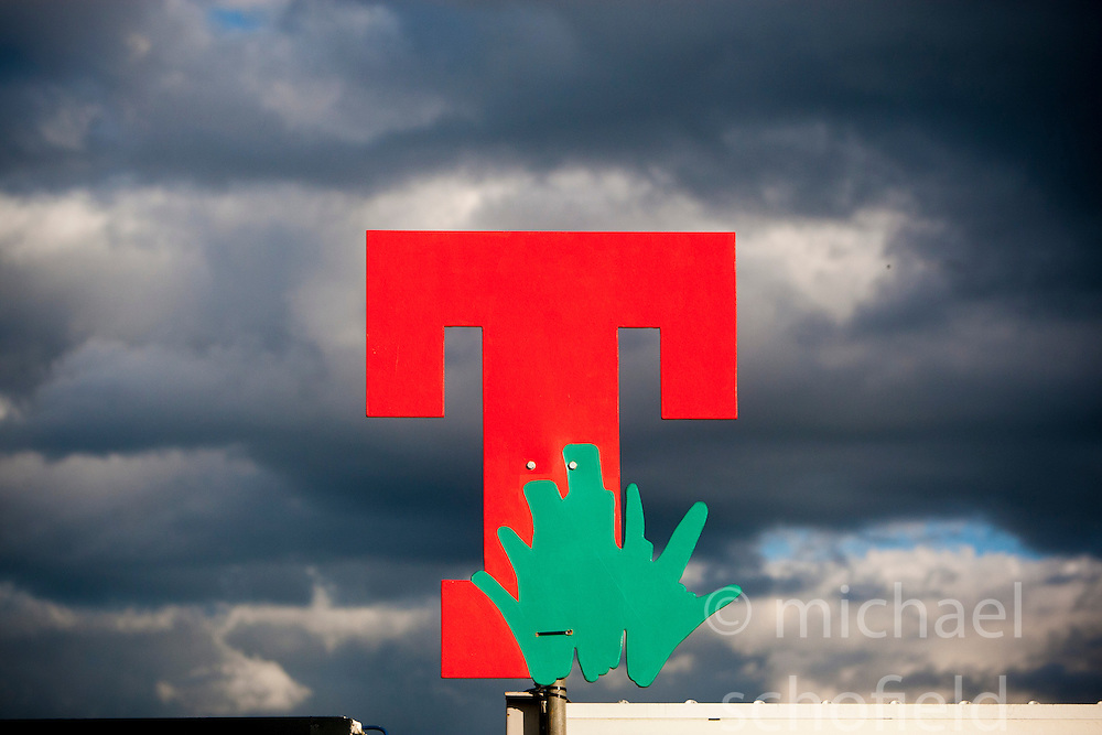 T in the Park 2008 sign..©Michael Schofield.