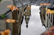 Nederland, Nijmegen, 9-9-2010De Stevenstoren weerspiegelt in een waterplas.Foto: Flip Franssen/Hollandse Hoogte