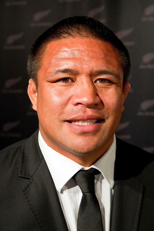Keven Mealamu of the All Blacks at the 2011 Rugby World Cup Squad presentation, Ponsonby Rugby Club, Auckland, New Zealand, Monday, August 29, 2011.  Credit:SNPA / David Rowland