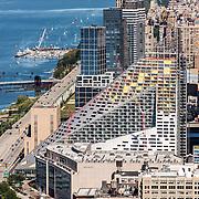 Construction of Durst Pyramid. 625 West 57th St. New York, NY.