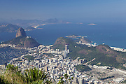 Looking down at Rio de Janeiro from Christ the redeemer, Brazil.