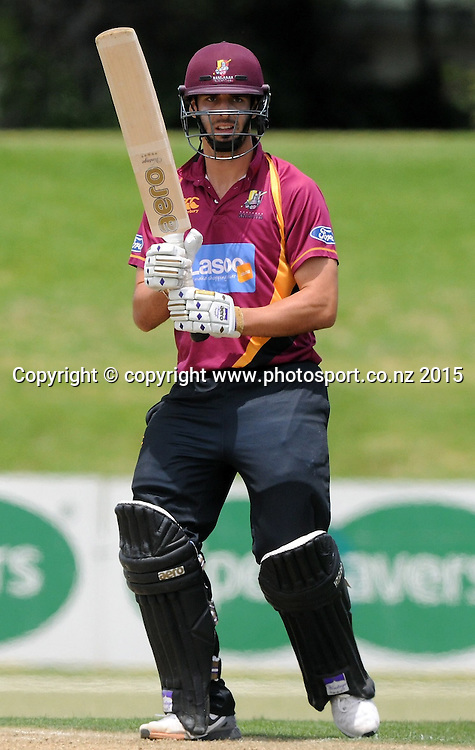 Northern Knight's Daryl Mitchell in the Ford Trophy One Day cricket match, Knights v Firebirds, Bay Oval, Mt Maunganui, Thursday, January 01, 2015. Photo: Kerry Marshall / photosport.co.nz